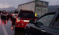ავარია წეროვანთან – ავტობანზე რამდენიმეკილომეტრიანი საცობია
