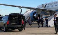 თვითმფრინავი, რომელშიც მელანია ტრამპი იჯდა, ავარიულად დაეშვა