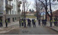 თელავში ოპოზიციის აქციის ადგილი პოლიციამ გადაკეტა