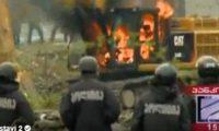 პანკისში ტექნიკას ცეცხლი წაუკიდეს– ფოტო