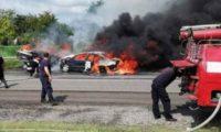 ნოსირთან 2 ადამიანი მანქანაში დაიწვა