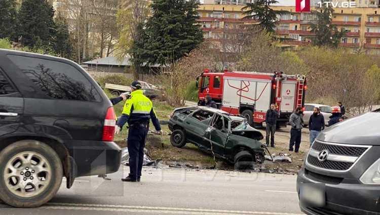 ავარია თბილისში – 3 ადამიანი დაიღუპა, 1 დაშავდა