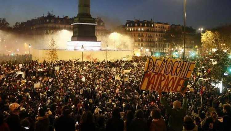 მასობრივი აქციები საფრანგეთში – 81 ადამიანი დააკავეს