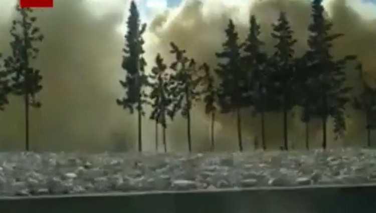 სამგორში ვაგონს ცეცხლი გაუჩნდა