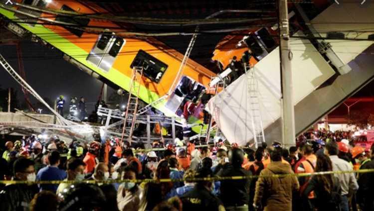 მეხიკოს მეტროში ხიდი ჩაინგრა - 20 ადამიანი დაიღუპა, 70 დაშავდა - ვიდეო