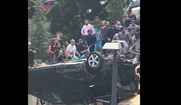 """1 გარდაცვლილი  და 8 დაშავებული - ავარია """"ნიუჰოსპიტალის"""" ეზოში - ვიდეო"""