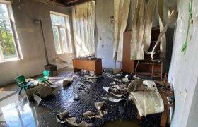 გურიაში გამგეობის შენობა დაიწვა